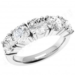JE110W - 18ct white gold ring with 5 round diamonds in a 4-claw setting