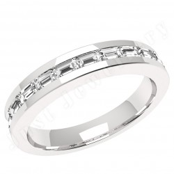 JEW062PL - Platinum eternity ring with baguette diamonds in a channel setting
