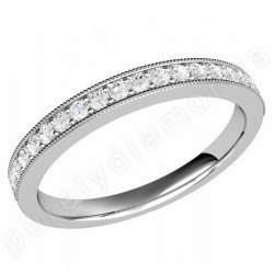 JE530/9W - 9ct white gold 19 stone claw set round brilliant cut diamond eternity/wedding ring