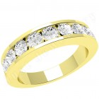JE053Y - 18ct yellow gold eternity ring with 9 channel-set round brilliant cut diamonds