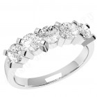 JE054W - 18ct white gold ring with 5 round diamonds
