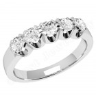 JE241/9W - 9ct white gold ring with 5 round brilliant cut diamonds