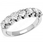 JE244/9W - 9ct white gold ring with 7 round brilliant cut diamonds