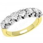 JE244/9YW - 9ct yellow gold ring with 7 round brilliant cut diamonds