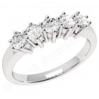 JE248/9W - 9ct white gold ring with 5 round brilliant cut diamonds