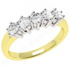 JE248/9YW - 9ct yellow gold ring with 5 round brilliant cut diamonds