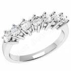 JE253/9W - 9ct white gold ring with 7 round brilliant cut diamonds