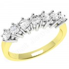JE253/9YW - 9ct yellow and white gold ring with 7 round brilliant cut diamonds