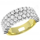 JE301YW - 18ct yellow and white gold ring with 43 round brilliant cut diamonds in a claw setting