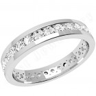JEW077W - 18ct white gold full eternity/wedding ring with round brilliant cut diamonds