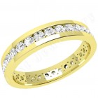 JEW077Y - 18ct yellow gold full eternity/wedding ring with round brilliant cut diamonds