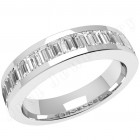 JEW078W - 18ct white gold eternity/wedding ring  with 17 baguette cut diamonds