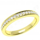 JEW081Y - 18ct yellow gold 2.75mm court  eternity/wedding ring with 19 round diamonds in a claw setting