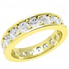 JEW088Y - 18ct yellow gold full eternity/wedding ring with round brilliant cut diamonds going all the way round in a claw setting.