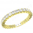 JEW089Y - 18ct yellow gold full eternity/wedding ring with round brilliant cut diamonds going all the way round in a claw setting
