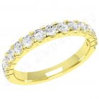 JEW090Y - 18ct yellow gold 2.5mm ladies eternity/wedding ring set with 15 round brilliant cut diamonds in a claw setting