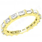 JEW091Y - 18ct yellow gold 2.3mm full eternity/wedding ring with baguette cut diamonds going all the way round in a bar-setting