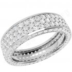 JEW096W - 18ct white gold 5.5mm wide full eternity/wedding ring with 5 rows of round brilliant cut diamonds going all the way around.