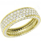 JEW096Y - 18ct yellow gold 5.5mm wide full eternity/wedding ring with 5 rows of round brilliant cut diamonds going all the way round.