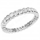 JEW116W - 18ct white gold full eternity/wedding ring with rub over set round brilliant cut diamonds going all the way around.