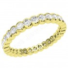 JEW116Y - 18ct yellow gold full eternity/wedding ring with rub over set round brilliant cut diamonds going all the way around.