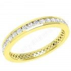 JE356Y - 18ct yellow gold full eternity ring with round brilliant cut diamonds