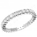 JEW089W - 18ct white gold full eternity ring with round diamonds in a claw setting