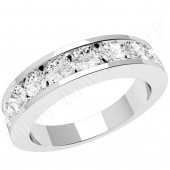 JE053U - Palladium eternity ring with 9 channel-set round brilliant cut diamonds