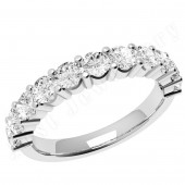JE302U - Palladium eternity  ring with 11 round brilliant cut diamonds in a claw setting