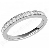 JE530U - Palladium 19 stone claw set round brilliant cut diamond eternity/wedding ring