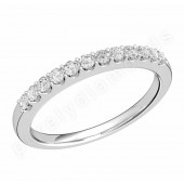 JE532U - palladium eternity ring with 12 claw set round brilliant cut diamonds