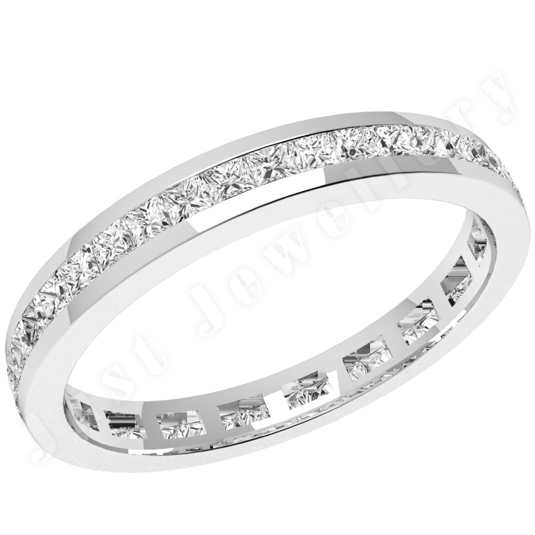 white gold setting channel shape princess cut diamond cut very good ...